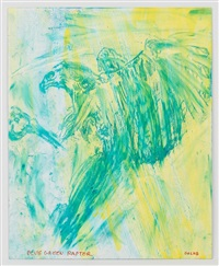 blue green raptor by leon golub