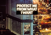 from survival (1983–85), installation: selection from the survival series, times square, new york by jenny holzer