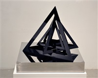 untitled (black triangles) by monir shahroudy farmanfarmaian