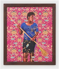 portrait of nadine renard (the world stage: haiti) by kehinde wiley