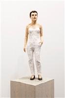 woman in white by stephan balkenhol