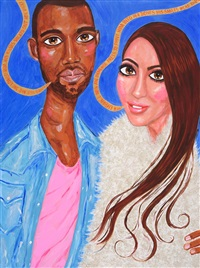 kim and kanye (kim kardashian and kanye west) by stella vine