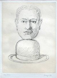 homme au chapeau by rené magritte