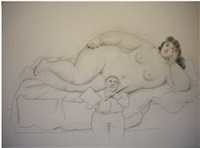 painter and model by fernando botero