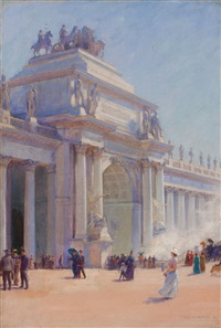 the water gate, world's columbian exposition, chicago by charles courtney curran