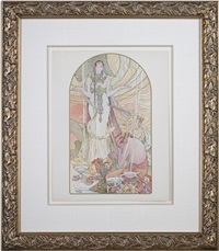 incantation - l' estampe moderne (inventory #614d) by alphonse mucha