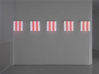 5 squares of electric light #2 by daniel buren