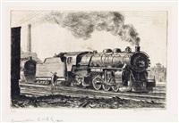loco l.v.r.r. (locomotive lehigh valley) by reginald marsh