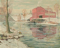 the red mill by ernest lawson