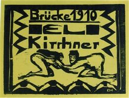 kniende akte (kneeling nudes) by erich heckel
