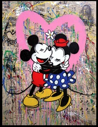 mickey and minnie by mr. brainwash