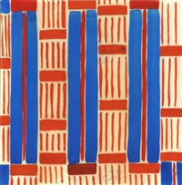 design 32, red and blue stripes by sonia delaunay-terk