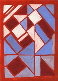 composition in red, white, and blue by sonia delaunay-terk