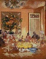 la salle a manger au château de clayes by edouard vuillard