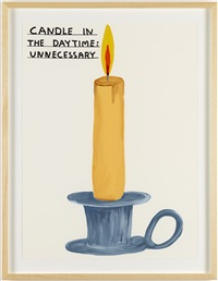 untitled (candle) by david shrigley