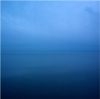 sections of england: the sea horizon no 9, series two, printed 2013 by garry fabian miller
