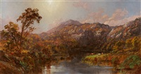 landscape with cows near warwick, new york by jasper francis cropsey