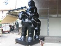 donna su cavallo by fernando botero