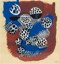 composition abstraite. project de tissus by sonia delaunay-terk