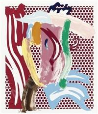 brushstroke head by roy lichtenstein