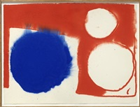 blue disc flooding by patrick heron