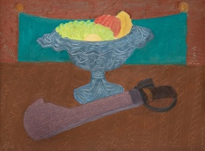 machete and fruit by milton avery