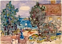 house by the sea by maurice brazil prendergast