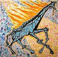 giraffe afire by salvador dalí