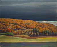 golden fall by rockwell kent