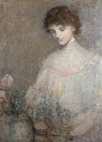 anna arranging flowers by julian alden weir