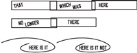 that which was here no longer there by lawrence weiner