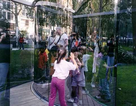 fun for kids at my work in a park in manhattan (edition for parkett 68) by dan graham