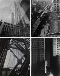 the maypole (empire state building), new york (+3 others; 4 works) by edward steichen