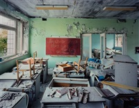 classroom in kindergarten #7, golden key, pripyat by robert polidori