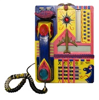 untitled (telephone) by kenny scharf
