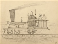 steam engine, the ben franklin by edward hopper