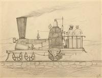 steam engine, the ben franklin by edward hopper