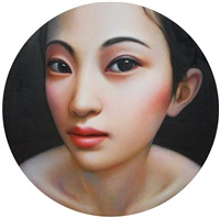 untitled (gazing girl) by zhang xiangming