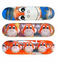 monkey train skate decks (set of 3) by jeff koons