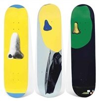 skate decks (set of 3) by john baldessari