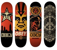 skate decks (set of 4) by shepard fairey