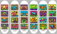 set of 6 retrospective by keith haring