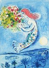 La Baie Des Anges - Nice Soleil Fleurs par Marc Chagall sur artnet